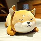 Shiba Inu Plush Pillow,Soft Corgi Stuffed Animals Toy Cute Sleeping Puppy Doll Gifts for Kids (Smiling Eyes, 13.7 inch)