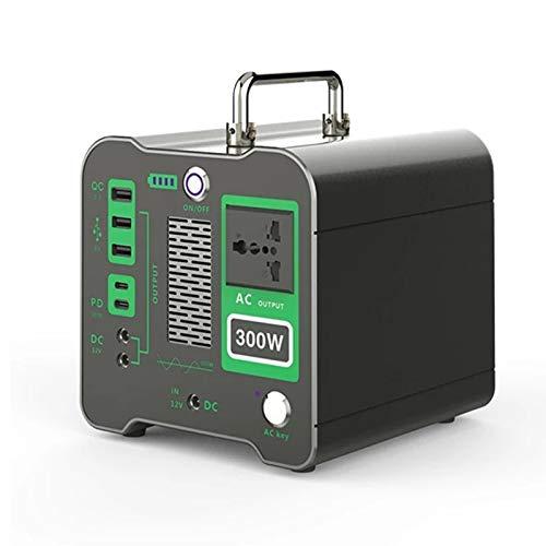 KELUNIS Central Eléctrica Portátil Batería De Litio De 300 W Central Eléctrica De Emergencia Generador De Energía Solar Al Aire Libre para Camping Viajes Caza Fuente De Alimentación 110V/220V