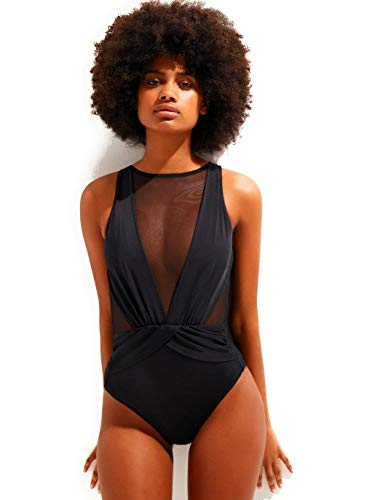 OYE Swimwear Elvira with Tulle in Black (XS)