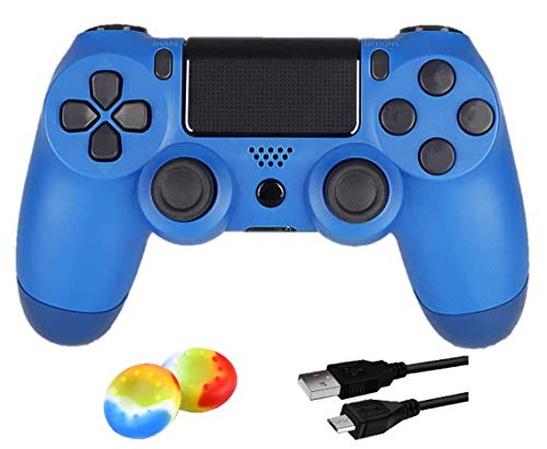 Juego Game Controller for PS4, Controller Wireless per Playstation 4 con Joystick di Gioco a Doppia Vibrazione, Blu (Wave Blu)