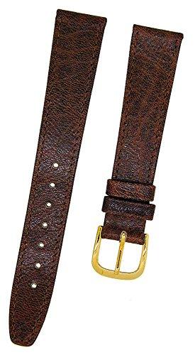 Fortis Swiss Leder Uhrenarmband Braun mit brauner Naht 16mm gold 8800