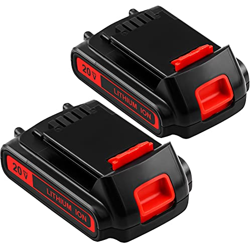 2-Pack 3.0Ah LBXR20 Replacement Battery Compatible with Black and Decker 20V Lithium Battery Max Compatible with LB20 LBX20 LST220 LBXR2020-OPE LBXR20B-2 LB2X4020 Cordless Tool Battery