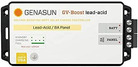 Genasun GVB-8-Pb-48V, GV-Boost 8 Amp 48 Volt MPPT Solar Boost Charge Controller for Lead Acid Batteries