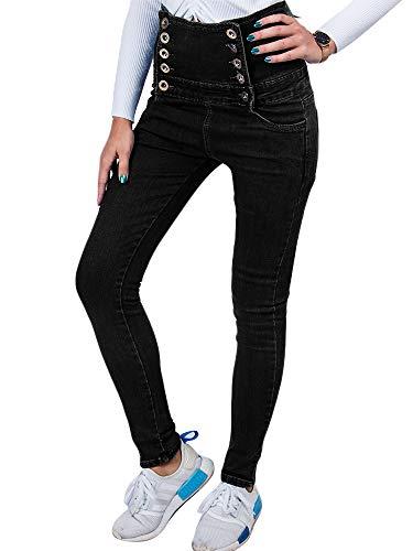 Jeans Dames Hoge Taille - BMEIG Skinny Slim Fit Stretch Push Up Denim Broek Denim Leggings Butt Lifting Sexy Potlood Jeggings Herfst Winter Zwart M-3XL