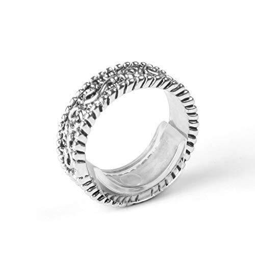 CCIIO 8 tamaños de anillo de silicona invisible ajustador de tamaño de anillo reductor para cualquier anillo