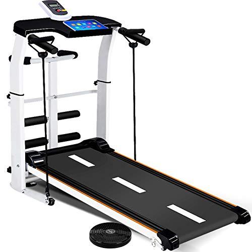 DIDIAN 3 In 1 Laufband,Klappbar Mechanische Manuell Laufband,Neigungseinstellungen Walking-Übung Laufband,Indoor Fitness-Weiß. 43x18x41zoll