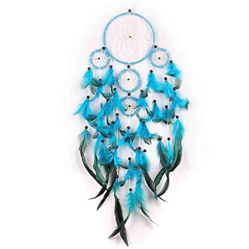 Waxy. Blue Dream Catcher Meerdere ringen Vijf ringen muur opknoping