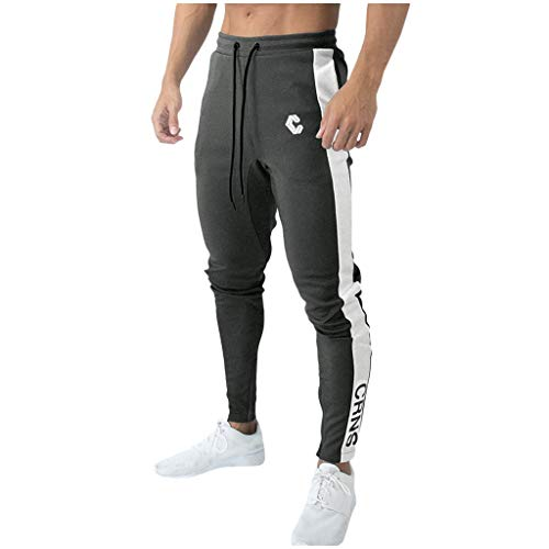 Buy Discount eipogp Mens Skinny Jogger Pants Tapered Stretch Sweatpants Light Weight Drawstring Trou...