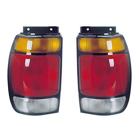 For 1995-1997 Ford Explorer Pair Rear Tail Lights Driver and Passenger Side Assembly Unit from 2/95 FO2800113 FO2801113 - replaces F67Z-13405-AA F67Z-13404-AA 1995 95 Ford Explorer Tail