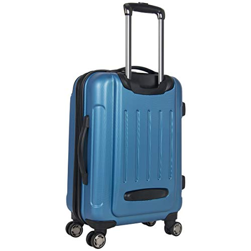 """Kenneth Cole Reaction Renegade 20"""" Carry-On Lightweight Hardside Expandable 8-Wheel Spinner Cabin Size Suitcase, Vivid Blue, inch"""