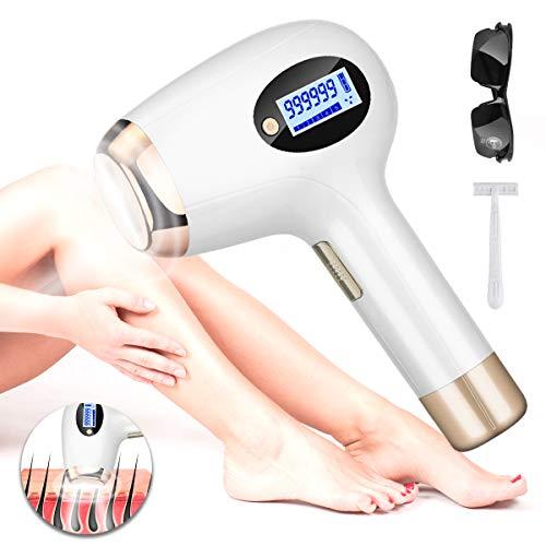IPL Haarentfernungsgerät, dauerhaft sichtbare Haarentfernung, AMTOK 999,999 Lichtimpuls & 3 cm² Haarentfernungsgröße Haarentfernung für dauerhaft glatte Haut Kostbares Geschenk der Frau