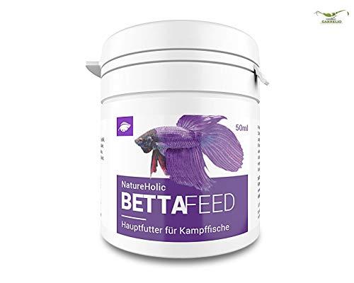 NatureHolic Bettafeed - Bettafutter - Futter für Fische im Aquarium – Bettas - 50 ml