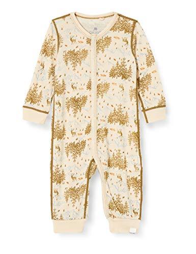 Celavi Jumpsuite wit Print Conjunto de Ropa Interior para bebés y niños pequeños, Oliva Militar, 90 cm Unisex bebé