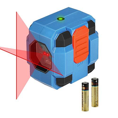 Nivel Láser 10-15m, SORAKO Nivelador Láser Cruzado, Nivelador Láser Cruzado, Nivelación Nivel Láser, Laser Autonivelante, Clase de láser II (2 pilas incluidas)