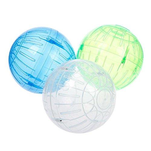 BuyinCoins roditore topo criceto Gerbilli Rat jogging gioca esercizio piccola sfera giocattolo di plastica
