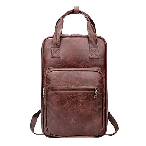 YINGDATETUI PU Leather Backpack Drum Stick Mallet Bag Drumsticks Bag Carrying Case Gig Bag Handbag Drum Musical Instrument Accessories Water-Resistant Fabric (Color : Brown)