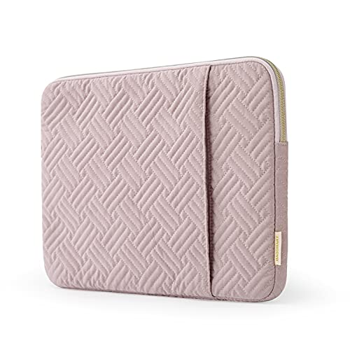 Laptop Sleeve,BAGSMART Laptop Cover Compatible with 13-13.3 inch MacBook Pro, MacBook Air, Notebook Computer,Water Repellent Protective Case with Pocket,Pink