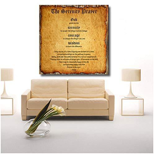 woplmh Leinwandmalerei Malerei Wanddekoration Gelassenheitsgebet Marlon Brando Wandbilder für Wohnzimmer Poster und Drucke-50x50cm(Kein Rahmen)