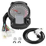 Rbaotech 12V Motocicleta Universal Digital 7 Colores Pantalla Lcd Velocímetro Odómetro Tacómetro con Sensor de Velocidad