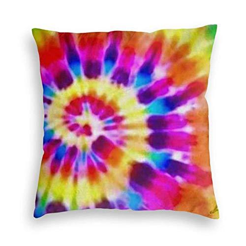 SUN DANCE Tye Dye - Funda de cojín decorativa suave para sofá, coche, cama, 50,8 x 50,8 cm