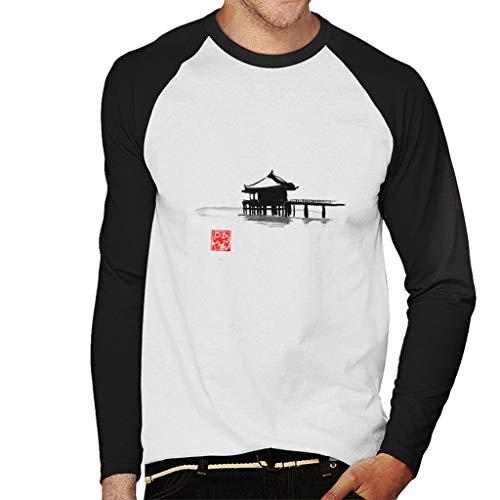 Cloud City 7 Small Island Hoed Black Ink Men's Baseball Long Sleeved T-Shirt