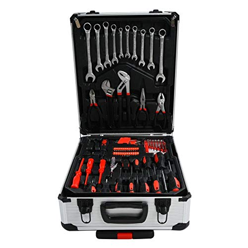 Kit de controlador de juego de precisión 187 piezas Kit de herramientas de hardware combinado de reparación de maquinista con maleta con ruedas portátil