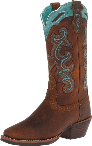 Justin Boots Women's Stampede Sliver Collection Equestrian Boot