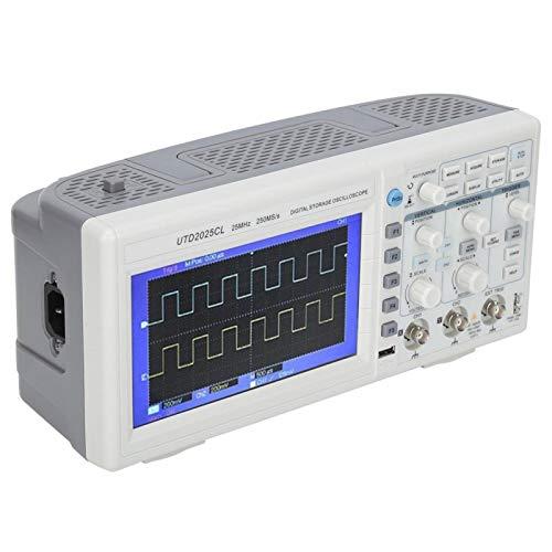 Eosnow Osciloscopio De Almacenamiento De 25 MHz, Osciloscopio De Osciloscopio De Almacenamiento De Poco Ruido para Detectar(Normativa Europea)