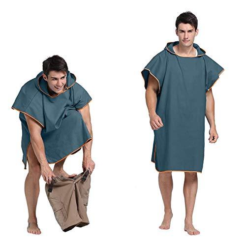 Letuwj Poncho de toalla con capucha para surfear, natación, traje de neopreno, unisex, tamaño único
