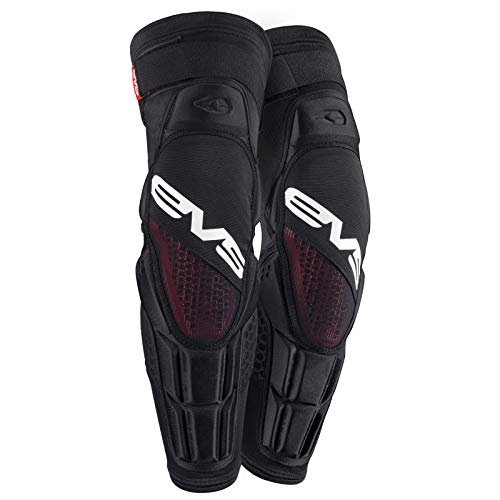 EVS Sports Unisex-Adult Hex Pro Knee/Shin Guard (Black, Large/X-Large)