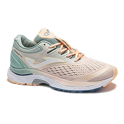 JOMA RHISLS2113 Hispalis Lady, Zapatillas de Running para Mujer, Rosa/Verde, EU 38