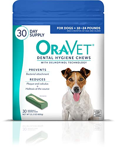 Merial Oravet Dental Hygiene Chew For Dogs (10-24 Lbs), Dental Treats For...