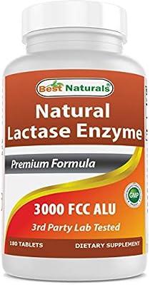 Best Naturals, Fast Acting Lactase Enzyme, 3000 FCC ALU, 180 Tablets