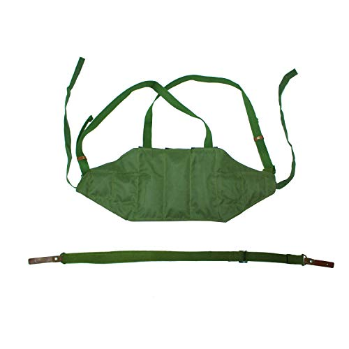 Replica Chinese Type 56 Chest Rig AK 47 Pouch Magazine Bag with SKS Sling Bundle Field Green Bandolier Pouches