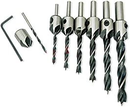 NUZAMAS 7pcs HSS Countersink Drill Bits Set Woodworking Reamer Chamfer Tool, 3-10mm Pre-Drill Counterbore Drill Bits Made for Screw