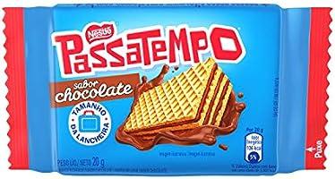 Biscoito, Mini Wafer, Chocolate, Passatempo, 20g