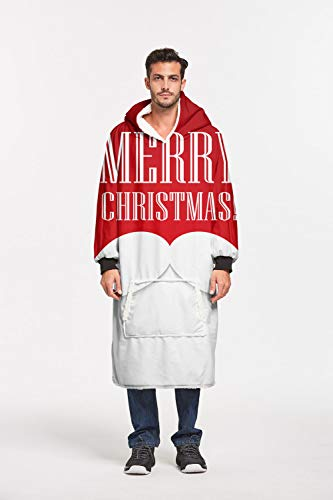 Sweatshirt, bedrukt, Kerstmis, reuzenmotief, sherpa, trui oversized winter, comfortabel, zacht en warm, voor sherpa, hoodie, mannen, vrouwen, volwassenen, jongeren