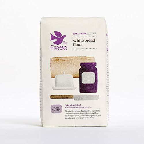 Doves Farm Glutine Di Frumento E Libero Bianco Miscela Di Farina Di Pane (1 Kg) (Confezione da 2)
