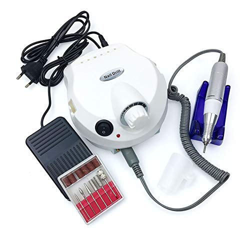 Electric Nail File Machine, 35000 RPM Professional Manicure Pedicure Grinding Kit Salon Nail Art Tools with Drill Bits Set for Home And Salon, UK Plug