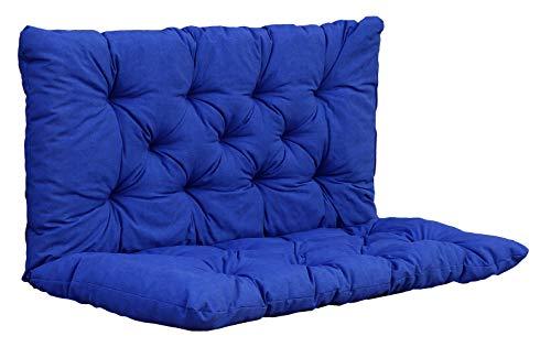 Ambientehome Auflage Bankkissen Bankauflage Polsterkissen 100x98x8 cm blau
