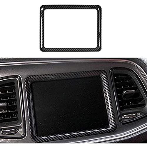 YFBB Embellecedor GPS de navegación de Fibra de Carbono ABS de 1 Pieza, para Dodge Challenger 2015-2019