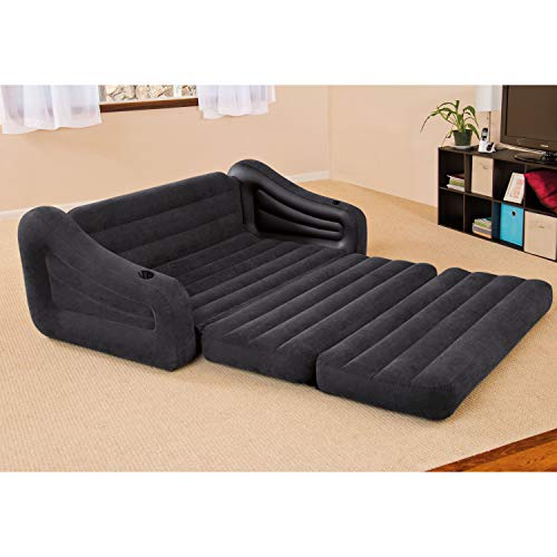Intex Pull-out Sofa Inflatable Bed, 76 X 87 X 26, Queen