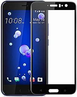 واق حماية كاملة رفيع من الزجاج المقسى لشاشة هاتف اتش تي سي، بنمط مطبوع ومضاد الصدماتU11