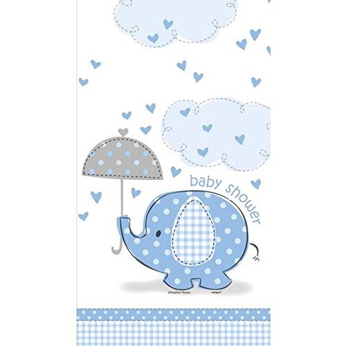 Unique Party - Tovaglia fantasia elefantino con ombrello - Blu (Taglia unica) (Blu/Bianco)