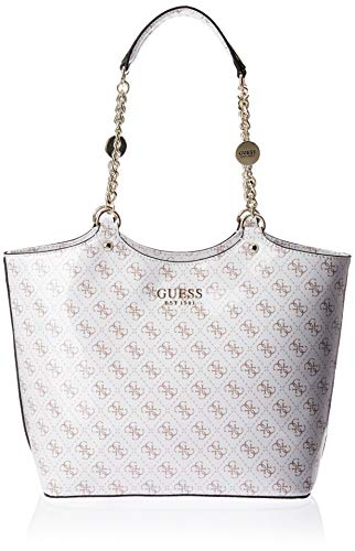 Guess LORENNA Society Carryall Handtasche, Damen, Weiß, Uni