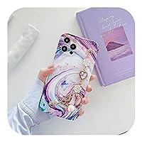 トレンディ For iPhone 12 11 Pro X XR XS Max Mini 7 8PlusフラワーリストチェーンソフトIMDバックカバー用の豪華なカラフルな大理石のブレスレット電話ケース-HYCaiShi-For iPhone 8 Plus