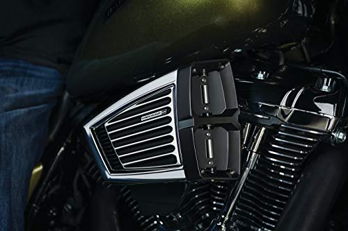 Kuryakyn 9361 Hypercharger ES Air Cleaner/Filter Kit for 2017-19 Harley-Davidson Touring with Milwaukee-Eight Motorcycles, Chrome/Satin Black