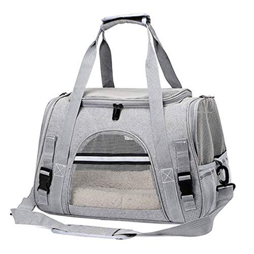 Sally Stella Bolsa portátil para transportar mascotas, mochila de animales adecuada para perros pequeños, gatos de tamaño mediano, multifuncional bolsa de coche pequeña para mascotas (gris)