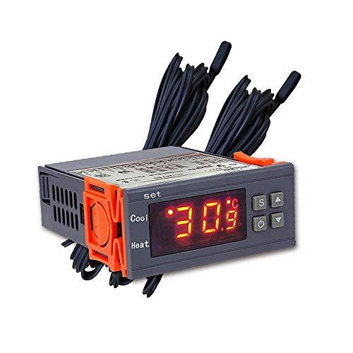 hgbygvuy STC-800 LED Controlador de Temperatura Digital 12V / 24V Termostato termostato con Calentador y refrigerador con detección de estrato de Agua S (Color : 12V)
