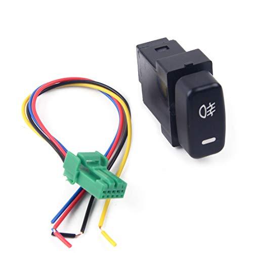 beler Interruptor de botón de Encendido/Apagado de luz antiniebla LED